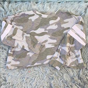 Camo Cropped Long Sleeve